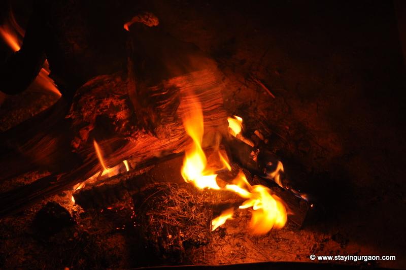 Mitwah Cottages: Evening Bonfire with Friends