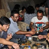 DEG Members Attacking the Food