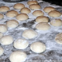 Flour Pedas Ready to be Baked into Rotis
