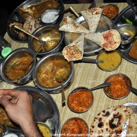 Food on the Dhaba Table