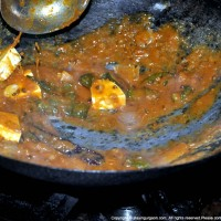 Kadhai Paneer Getting Ready