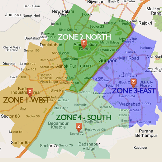 MCG Zone Map