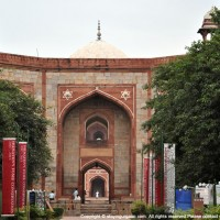 The main Gateway to Humayun's Tomb