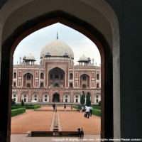 Humayun's Tomb seen through the gateway