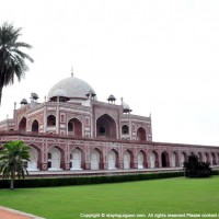 An angular view of Humayun's Tomb from Char Bagh