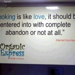 Quote on the wall at Organic Express